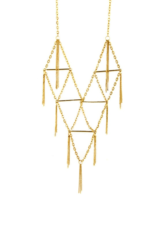 Zad On The Fringe Gold Necklace