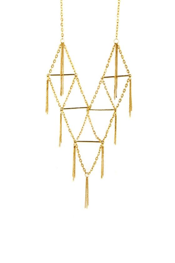 Zad On The Fringe Gold Necklace
