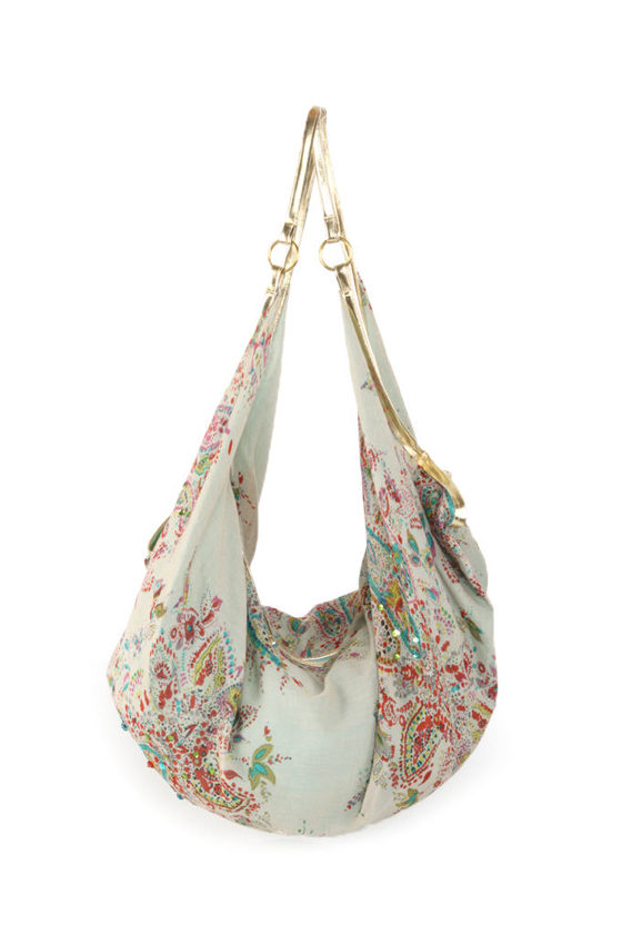 Gypsy Rain Paisley Hobo Bag