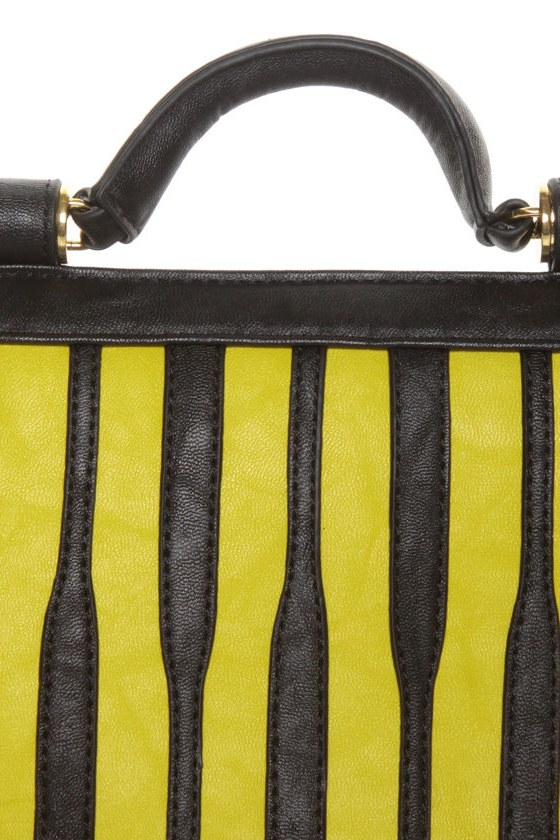 Bumble Bee Mine Striped Purse