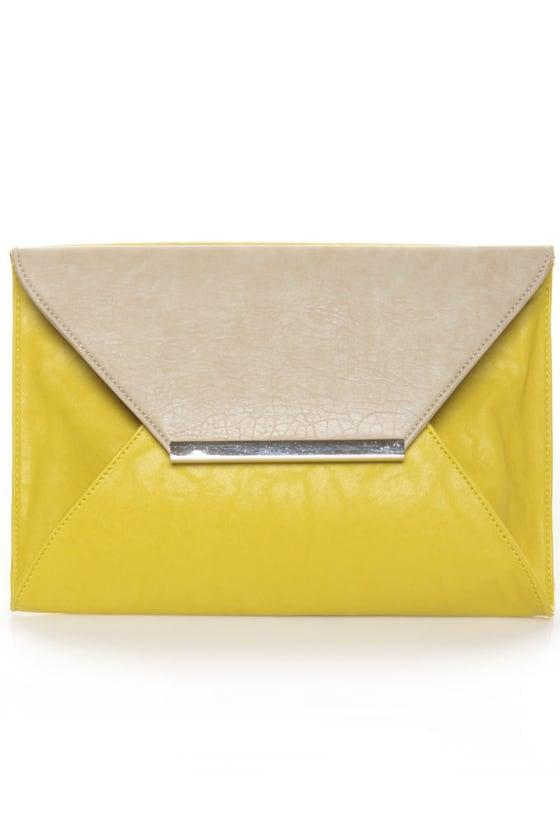 Lemon Meringue Pie Yellow Clutch