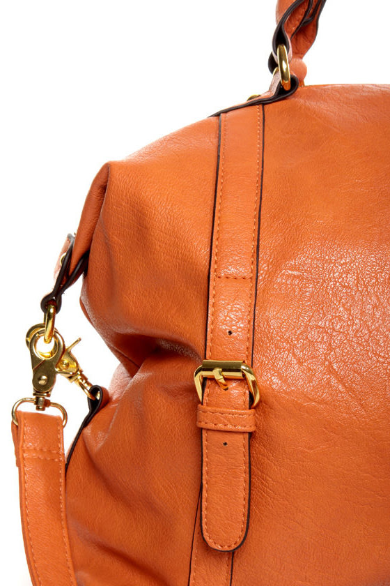 Tribeca Triumph Orange Handbag at Lulus.com!