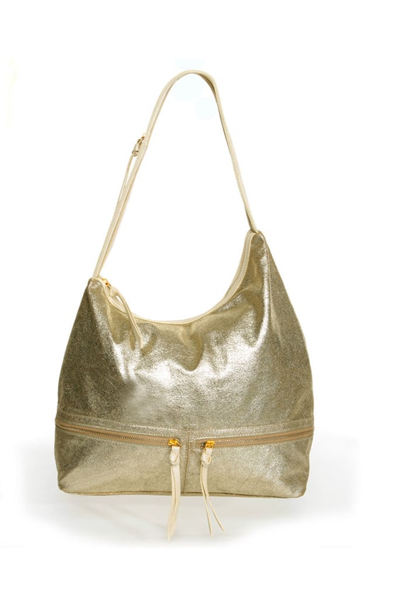 Raw Materials Gold Hobo Bag