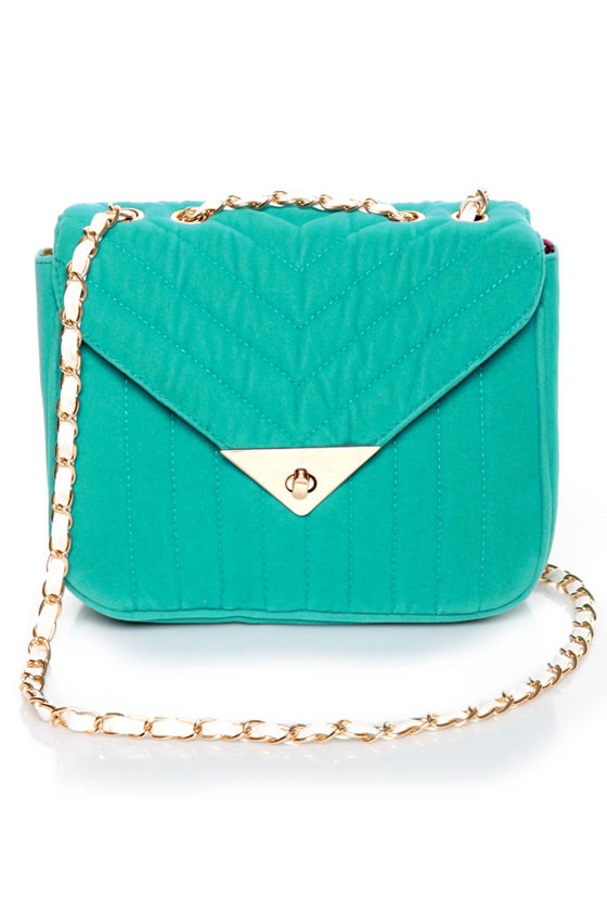 You're Making Me Plush Teal Handbag