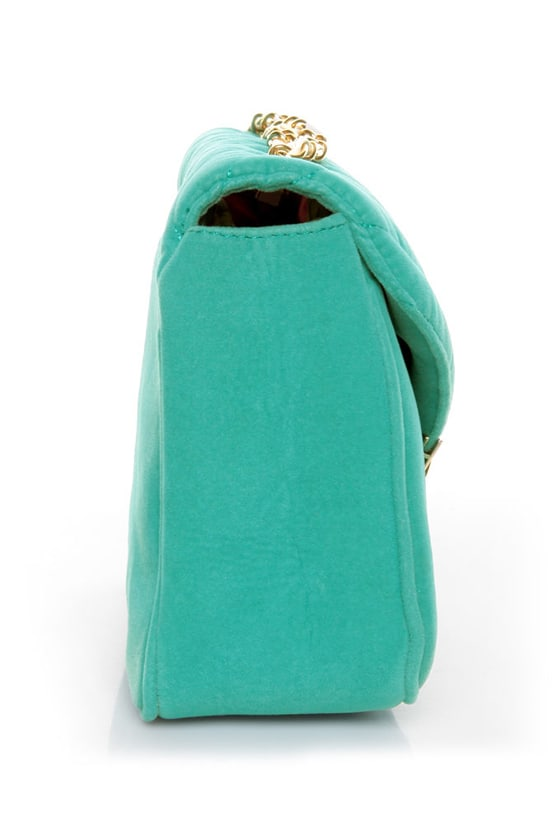 You're Making Me Plush Teal Handbag at Lulus.com!
