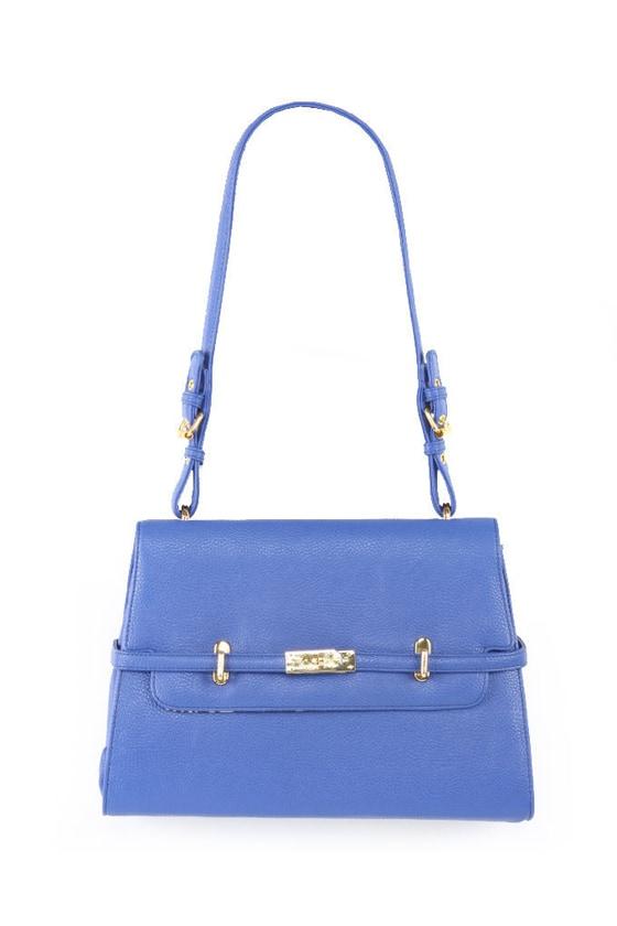 Cute Blue Handbag - Royal Blue Purse - Bright Blue Shoulder Bag ...