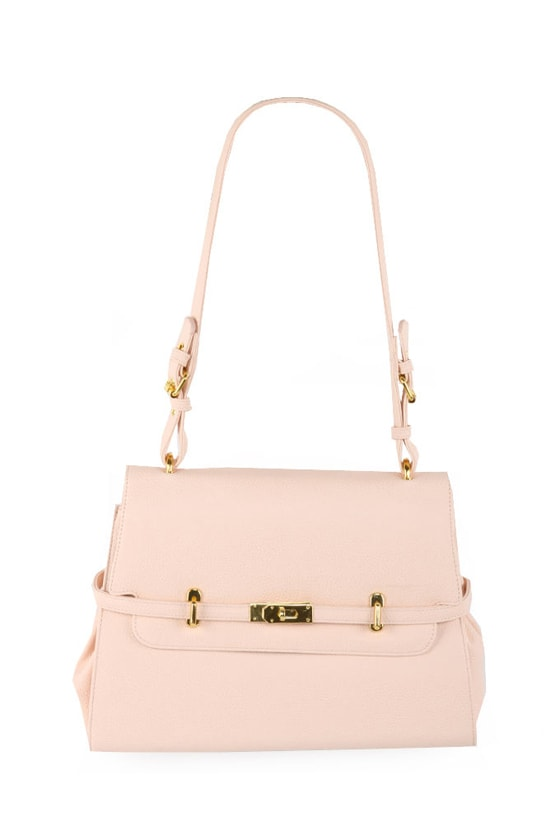 Cute Pink Handbag - Pale Pink Purse - Blush Pink Shoulder Bag - $37.00
