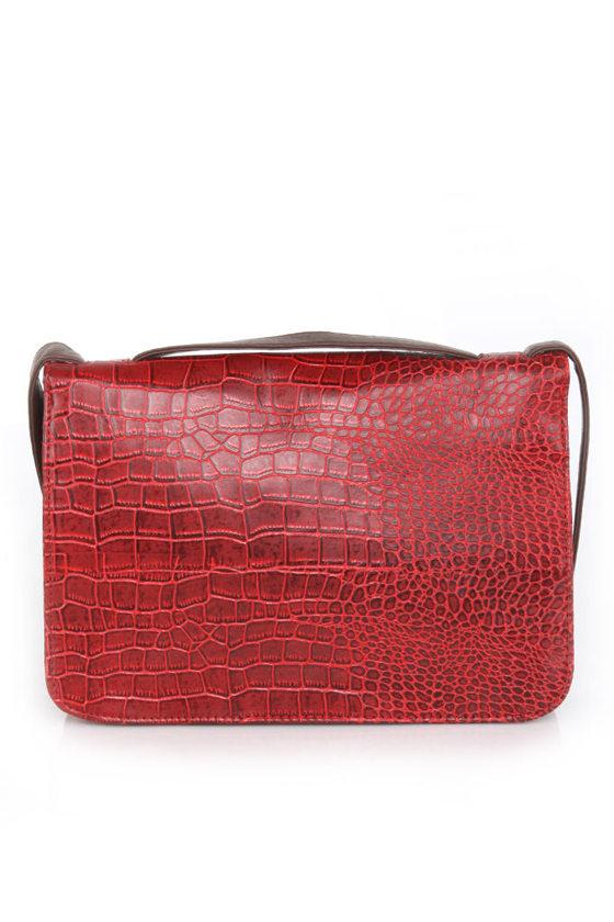 Madrid Maneuver Red Handbag