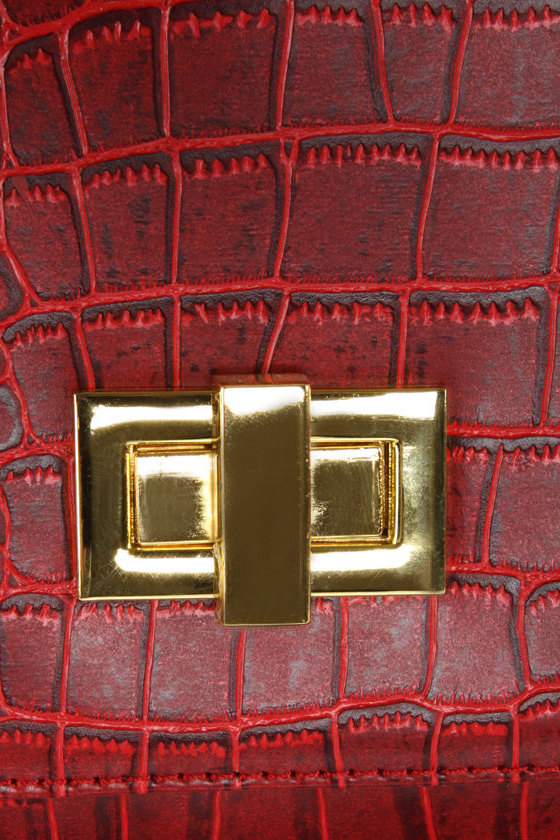Madrid Maneuver Red Handbag