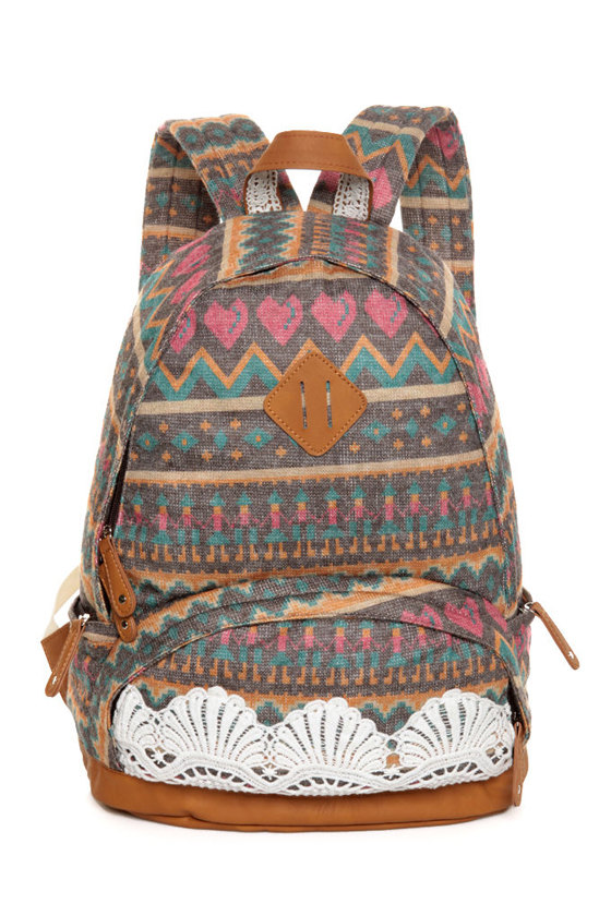 Just for Briana Tribal Print Backpack