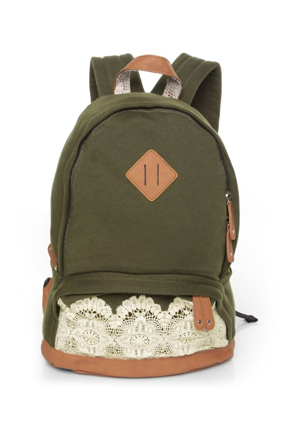 Just for Briana Olive Green Backpack
