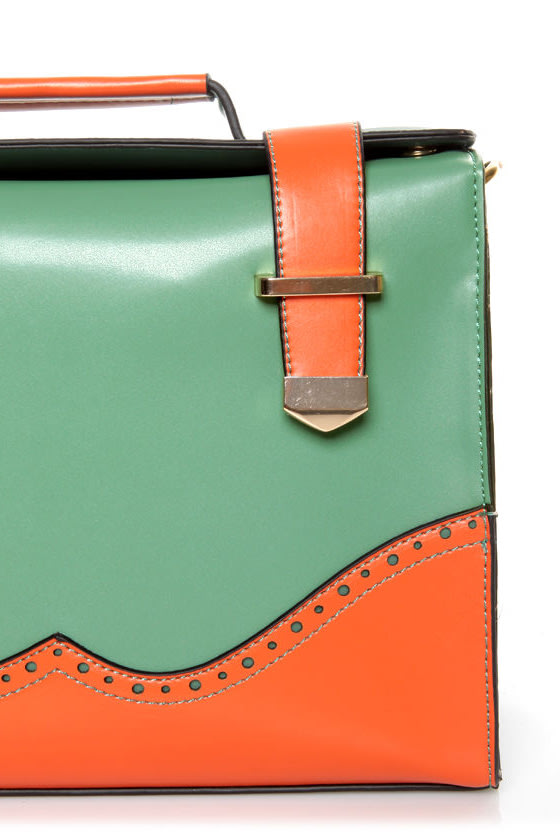 Hop a Flight Teal and Coral Purse at Lulus.com!