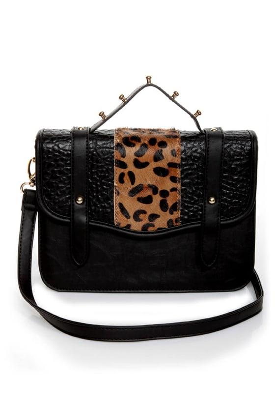c37e0ff0a889 Cheetahs Always Win Animal Print Black Purse