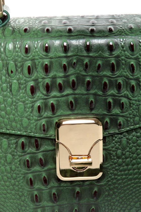 Later Gator Green Alligator Purse at Lulus.com!