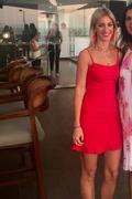 acc9fd7a04e0 Sexy Red Dress - Red Bodycon Dress - Ruffle Mini Dress