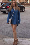 eafebe5582 Shirt and Sweet Blue Chambray Shirt Dress