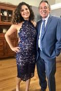 943753830f0a2 Stunning Navy Blue Lace Dress - Midi Dress - Lace Halter Dress