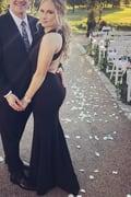 7b882d7554e Elegant Black Dress - Maxi Dress - Open Back Maxi Dress