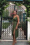 9657fa0eaed LUSH x Lulus Dress - Olive Green Midi Dress - Ribbed Knit Dress