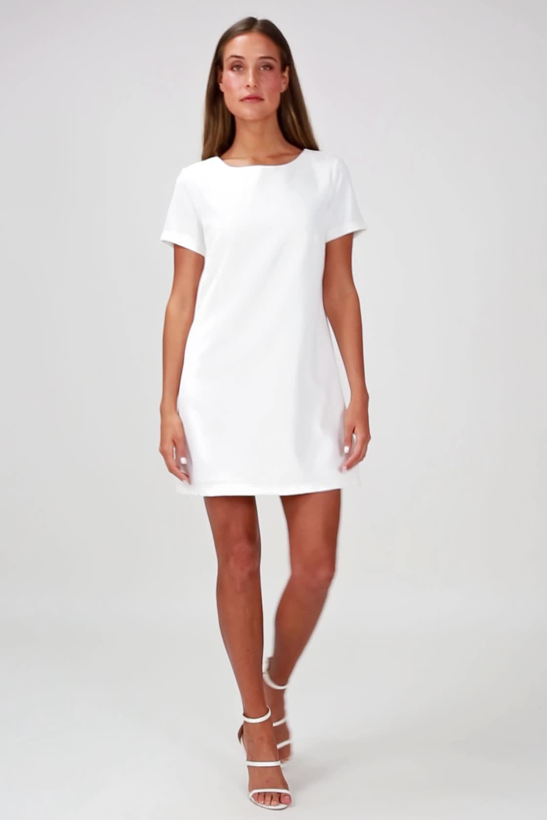 1c752d53fa73 Blush Pink Dress - Shift Dress - Short Sleeve Dress -  49.00