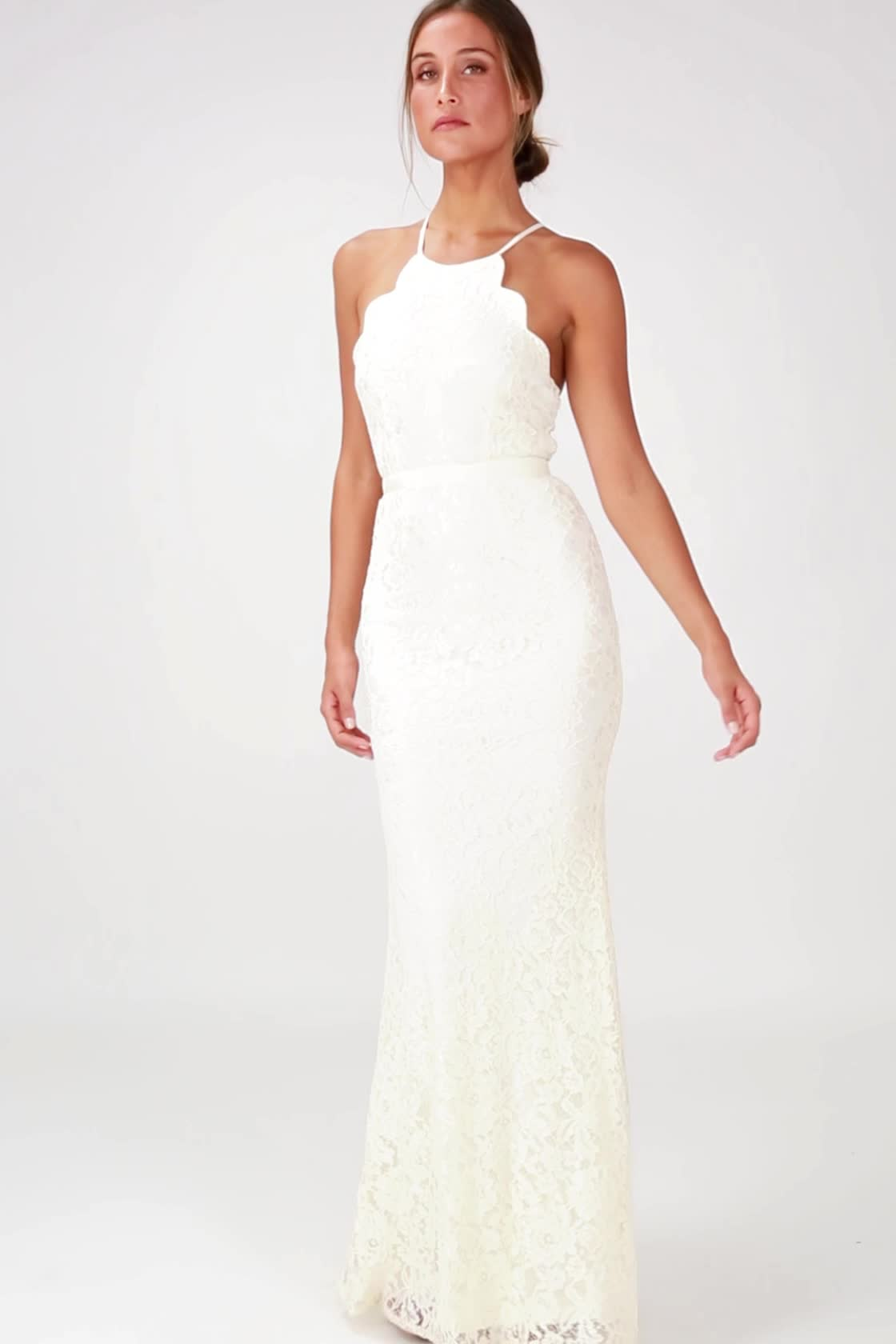 Lovely Cream Gown - Lace Dress - Maxi Dress